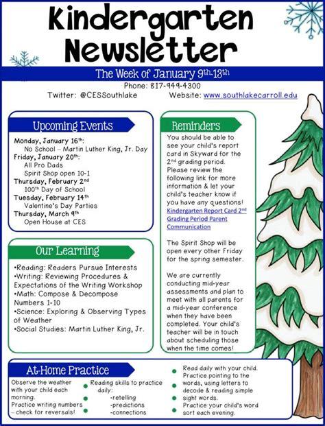 free newsletter templates 9 kindergarten newsletter templates free sles exles formats free premium