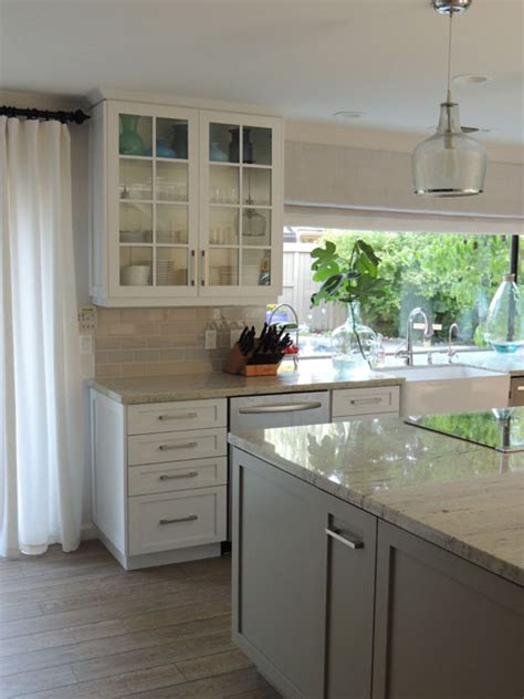 sherwin williams dorian gray cabinets river white granite countertops design ideas 215