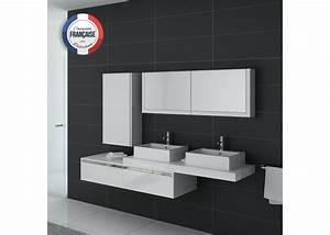 Meuble De Salle De Bain Double Vasque : meuble salle de bain ref dis9551b ~ Teatrodelosmanantiales.com Idées de Décoration