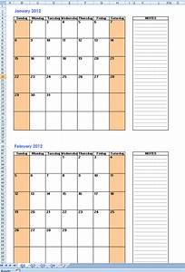 free printable calendars 2 months per page 2018 calendar With 2 month calendar template 2014