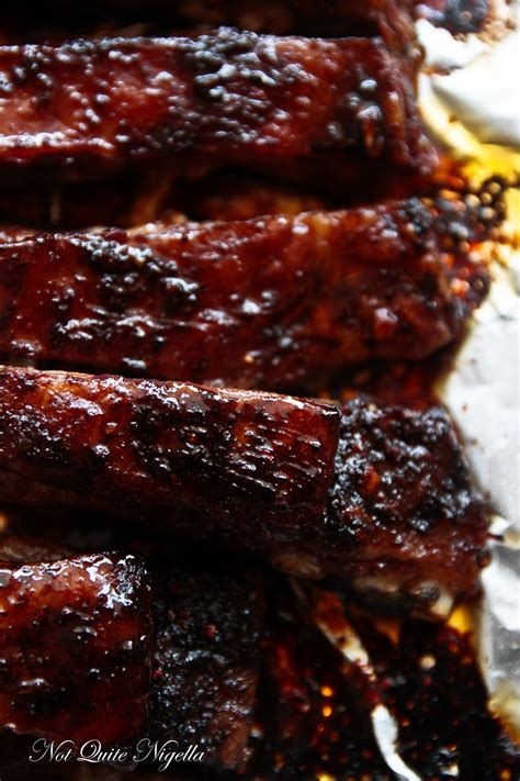 sticky spicy lamb ribs    nigella