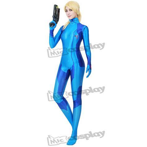 Metroid Samus Aran Zero Suit Zentai Women Gir Cosplay Costume