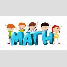 Font Design For Word Math With Boys And Girls Illustration Vector  Free Download