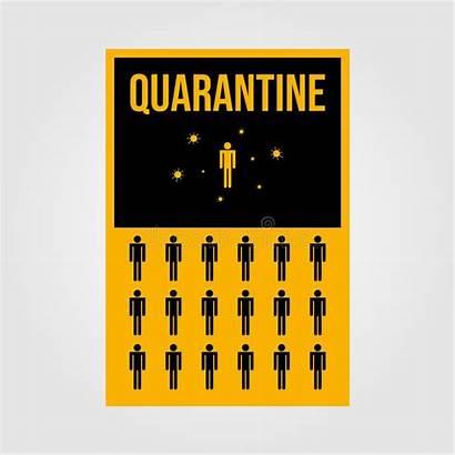 Human Isolation Quarantine Poster Health Care Viruses