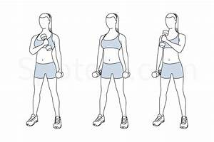 Standing Cross Chest Curl