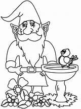 Gnomes Zwerge Gnomo Gnome3 Coloringpagebook Gnom Nachmalen Gnomos sketch template