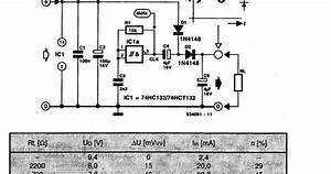 Schematic Diagram  Dc Voltage Doubler Using The 74hc132 Wiring Diagram Schematic