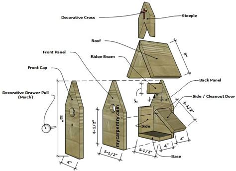How To Build A Picnic Table Bench by Church Birdhouse Plans Bird House Plans That Resemble A