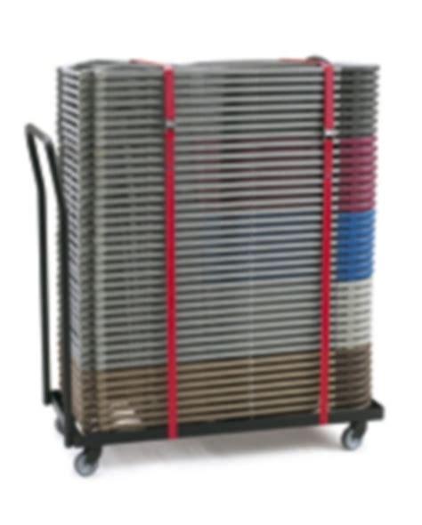 folding chair storage trolley flat bed trolley