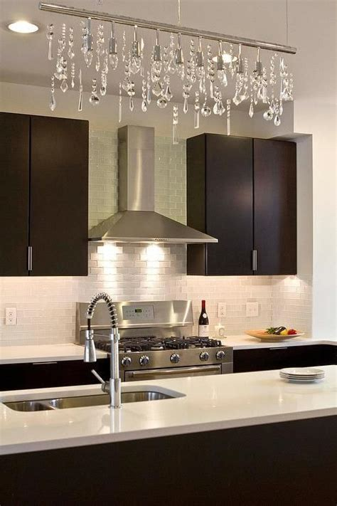 modern kitchen boasts espresso flat front cabinets paired