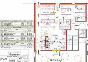 plan cuisine professionnelle normes amazing conception de With plan cuisine restaurant normes