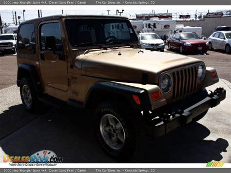 desert jeep wrangler 2000 jeep wrangler sport 4x4 desert sand pearl camel