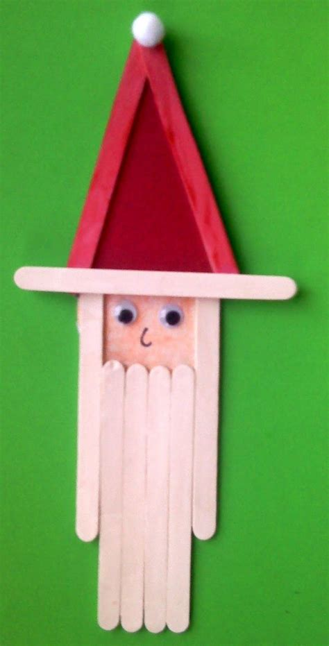 crafts actvities and worksheets for preschool toddler and 198 | Popsicle stick Santa