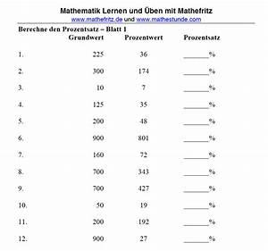 Prozentsatz Berechnen. prozentsatz berechnen arbeitsblatt mathefritz ...