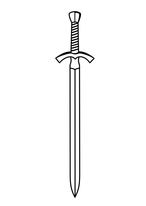 sword outline clipart clipground