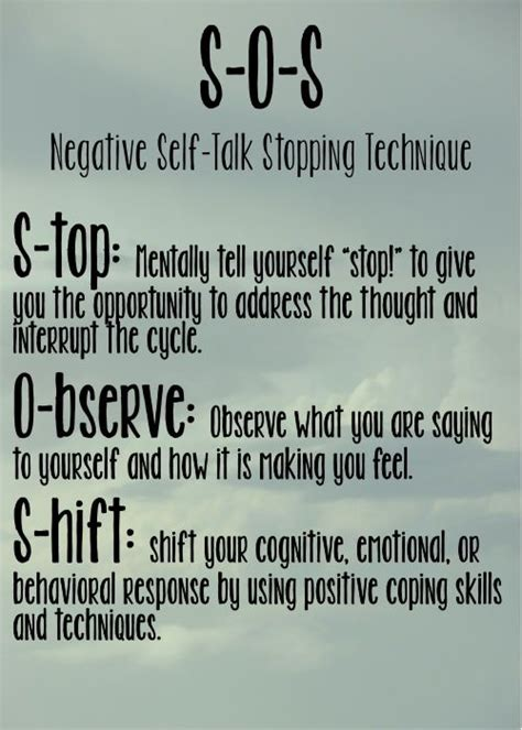 negative  talk stopping technique    stop