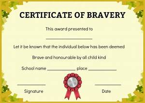 bravery certificate 12 free printable templates to reward With bravery certificate template