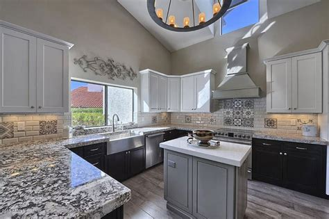 grey kitchen cabinets with granite countertops bianco antico granite countertops pictures cost pros 8360