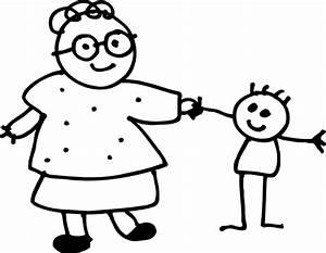 Mom Holding Childs Hand - Outline Clip Art at Clker.com ...