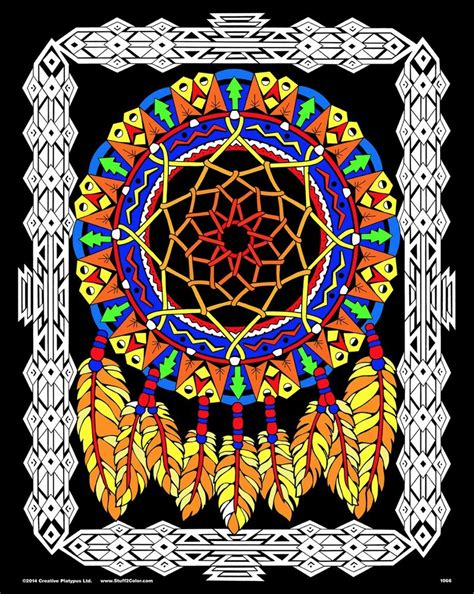 dream catcher large   fuzzy velvet coloring