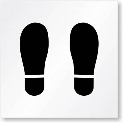 Floor Footprint Stencil Symbol Stencils St Stand