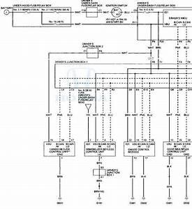 Honda Accord  Circuit Diagram - Multiplex Integrated Control System - Body Electrical