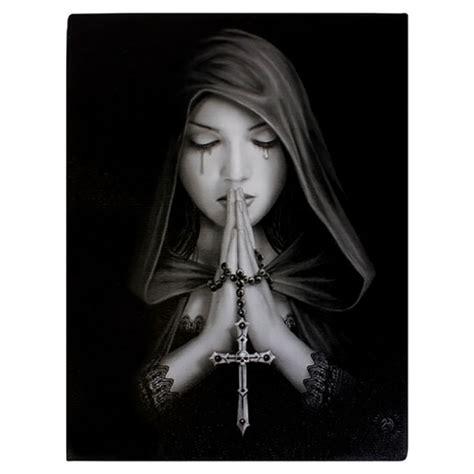 anne stokes canvas fantasy art print gothic prayer paganrealmscom