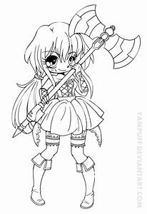 Vermillia Chibi Lineart Commission by YamPuff on ...