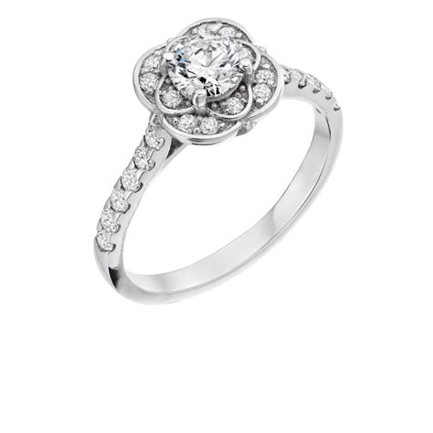 floral design engagement ring floral halo diamond ring ni