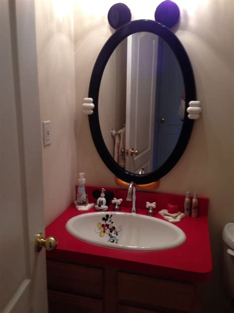 my mickey mouse bathroom disney decor pinterest