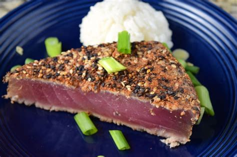 tuna steak spicy rubbed ahi tuna steak chef times two