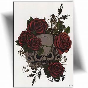 Dessin Tete De Mort Avec Rose : tatouage tete de mort rose ~ Melissatoandfro.com Idées de Décoration