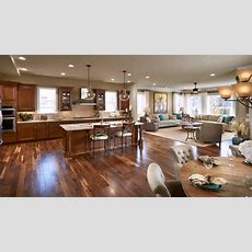 Open Floor Plan Living Room Kitchen Dining Youtube