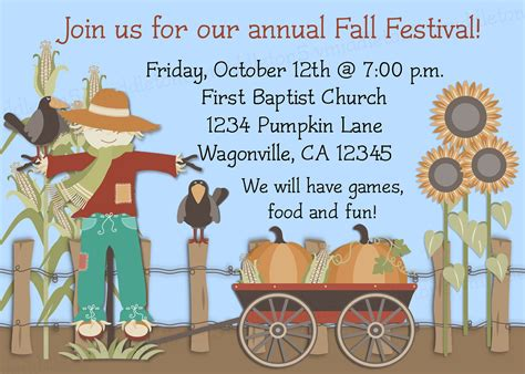 fall festival ideas fall festival invitation wording