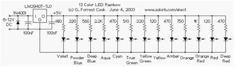 Simple Color Led Rainbow Circuit Diagram