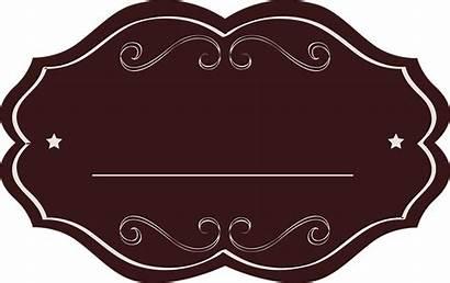 Label Fancy Background Oval Labels Transparent Blank