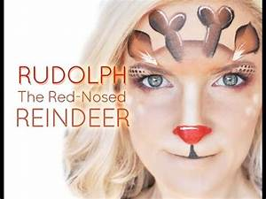 Rudolph the Red-Nosed Reindeer Face Painting Makeup ...