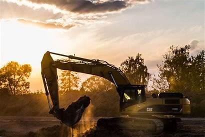 Excavator Sunset Sand Demolition Pexels Bagger Ad