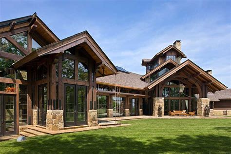 Timber Frame Timber Frame Home Exteriors
