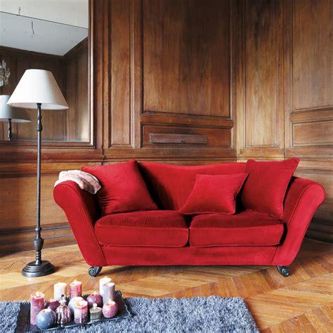 canape style baroque canapé 3 places en velours baroque maisons du monde