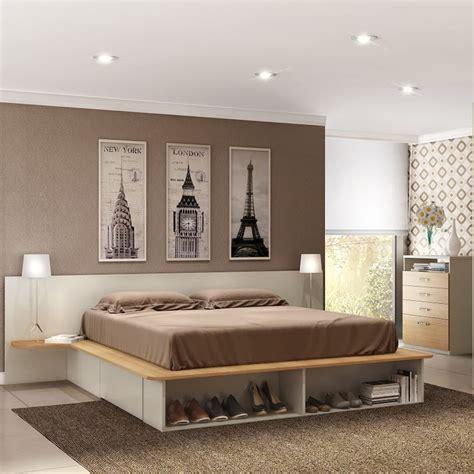 cama casal com cabeceira e criado herval siena almendra r 621 77 em mercado livre