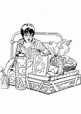 Potter Harry Coloring Pages Fun sketch template