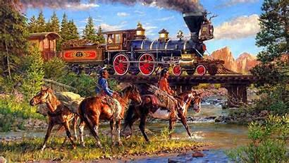 West American Desktop Wallpapers Railroad Wild Train