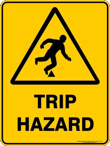 trip hazard australian safety signs