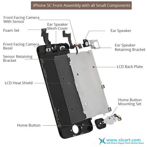 iphone 5s parts diagram iphone 5 5c 5s 6 lcd screen assembly front