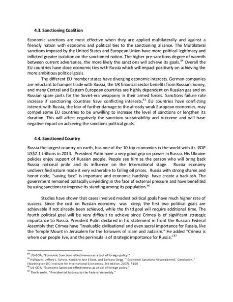economic sanctions imposed on russia ziad jaser