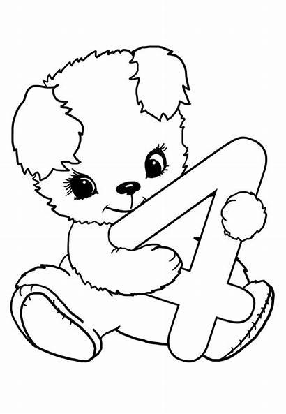 Coloring Birthday Happy Funny Bear Teddy 40th