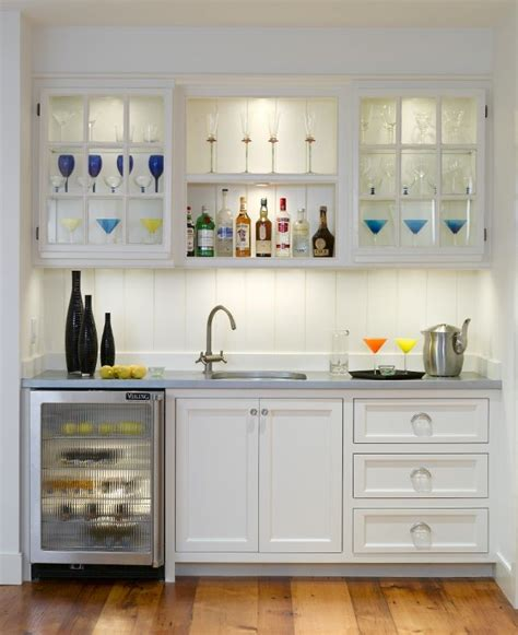 Basement Bar Refrigerator by Bar Space With A Sink And Small Counter