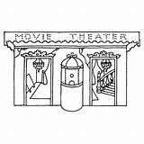Theater Buidling sketch template