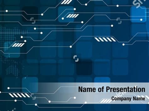 Abstract tech futuristic PowerPoint Template - Abstract ...